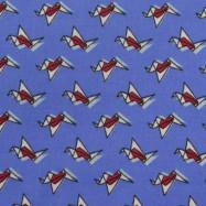 Скидка 60% Ситец хлопковый (оригами на голубом) (008278)