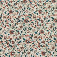Скидка 50% Габардин стрейч (маленькие цветочки бордо) (005333)