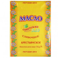 Масло сливочное Советское 72,5% 180гр по акции за 72.79 ₽