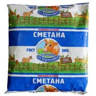 Сметана Коровка из Кореновки 20% 0,45 кг по акции за 80.12 ₽