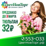 Открываем предзаказ на тюльпаны к 8 марта.