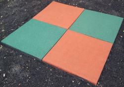 Цена дня! Резиновая плитка (П) для укладки на сыпучую поверхность