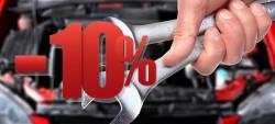Минус 10% на все виды работ автосервиса