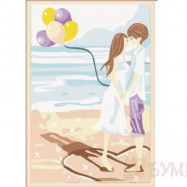 """Картина по номерам Mengley """"Любовь у моря"""" , -60%"""