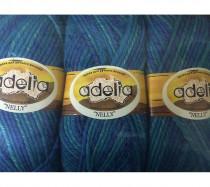 "Пряжа Adelia ""NELLY"" 70% шерсть 30% акрил 5 х 100 г цвет 12"