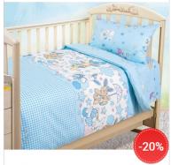 Детское постельное бельё из бязи для детских кроваток