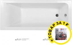 Акриловая ванна Aquanet Bright 175x75 с каркасом + штора