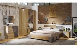 Спальня «Клео» (Дуб Ривьера/Моод темный), -50%