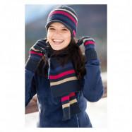 Набор шапка, шарфик и перчатки. Скидка 15%