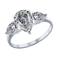 Серебряное кольцо SOKOLOV с фианитом, -50%