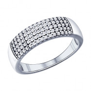 Серебряное кольцо SOKOLOV с фианитом, -40%