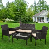 Мебель садовая Веранда YTGTC103 (стол, 2 стула, кресло), ротанг