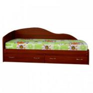 Кровать с фигурной стенкой и ящиками, скидка 20%