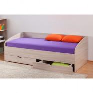 Кровать с прямой стенкой и ящиками, скидка 10%