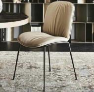 -20% на Cattelan Italia Tina Кожаный стул, 51х62х87 см, кофе с молоком
