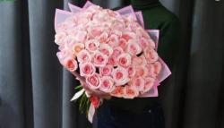 51 розовая роза в упаковке 4.150 ₽ вместо 4.590 ₽