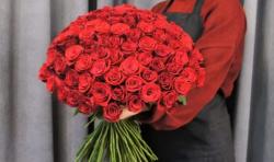 Букет из 101 красной розы 7.300 ₽ вместо 8.080 ₽