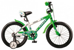 """Велосипед 18"""" STELS Pilot-190 (Белый/зелёный), скидка"""