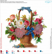 "-50% Схема для вышивки бисером на ткани ""Корзина с розами"""