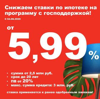 Ипотека с господдержкой от 5,9%
