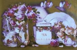 Скидка! Мозаика из страз Натюрморт с чаем