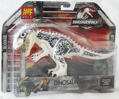 Скидка 29% «Индоминус Рекс Белый», Lele39119 Конструктор Jurassic World