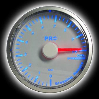 Скидка! Указатель давления масла 60мм, синяя подсветка RS-05699