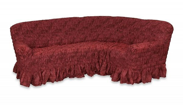 Скидка 30% на чехол на классический угловой диван Фантазия Вишня