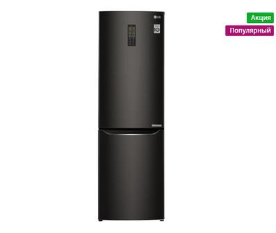 Скидка 9%. Холодильник LG GA-B419SBUL черный