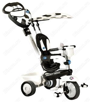 Скидка 50%. Велосипед детский трехколесный Smart Trike ZooCow 1573400/1573900 (черно-белый)