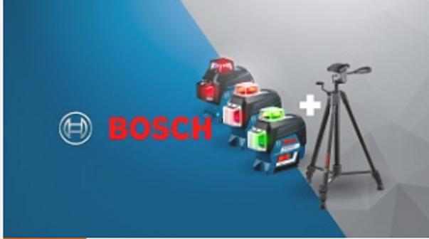 Супер комплектация лазерных нивелиров BOSCH