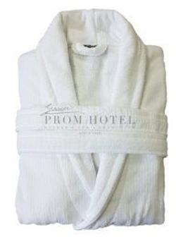 Распродажа! Белый махровый халат для отеля