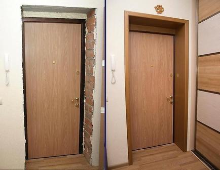 чем оформить проём входной двери