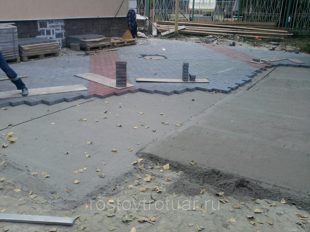 Подготовка основания под укладку тротуарной плитки