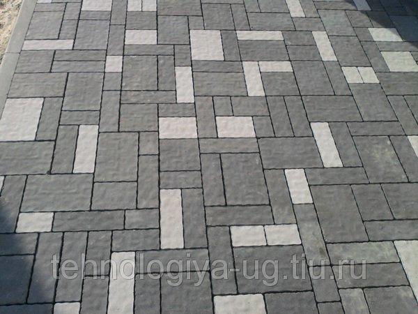 Укладка тротуарной плитки Тракт