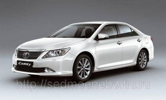 Заказать автомобиль на свадьбу Toyota Camry new white