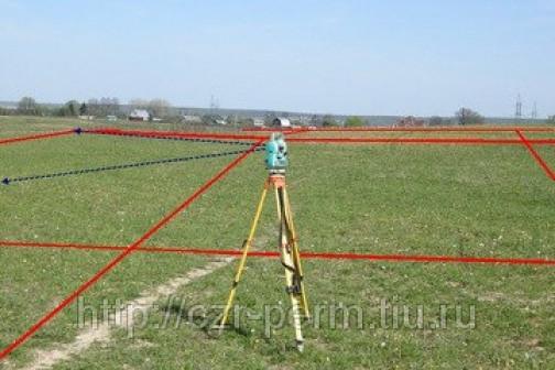 Вынос и закрепление на местности границ земельного участка