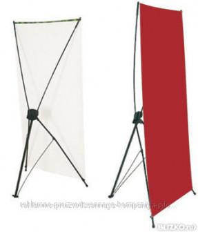 Мобильный баннерный стенд Х (с баннером и люверсами)