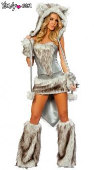 Волчица   меховой костюм