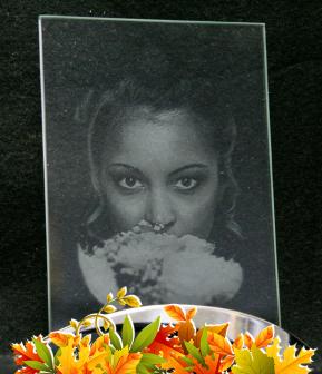 Фото на подставке в стекле