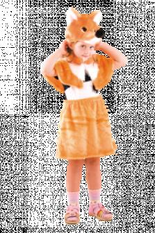 Карнавальный костюм лисичка для детей мех прокат
