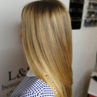 Окрашивание волос в технике air touch