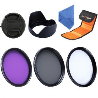 KF 77mm Slim Uv Cpl Fld объектив поляризационный набор фильтров + бленда и крышка