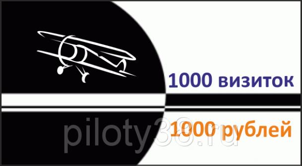 Офсетная печать визиток 1000шт