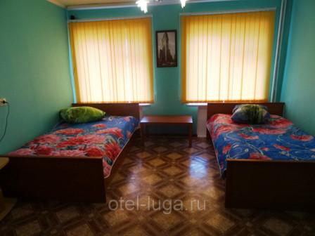 Бюджетный двухместный номер с 2 отдельными кроватями (филал Боровический пер, 12)