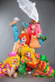 Детский праздник с клоунами, клоун в Новосибирске