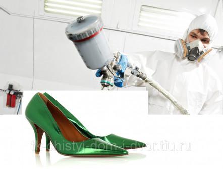 Покраска обуви Зеленый