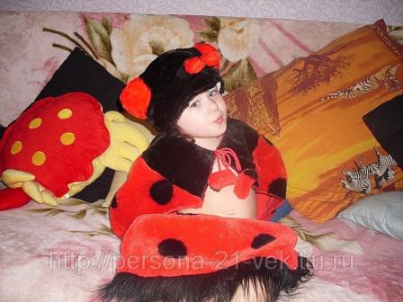 Карнавальный костюм детский божья коровка
