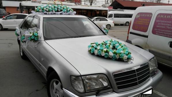 Прокат набора на свадебную машину(две широкие ленты, букет на радиатор, кольца на крышу, банты на з