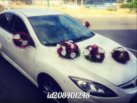 Прокат набора украшений на свадебную машину в Симферополе марсал букеты на капот
